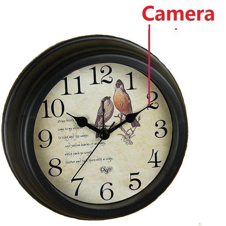 Hd Spy Hidden Wifi Camera 1080p Wall Clock Anti Theft Video