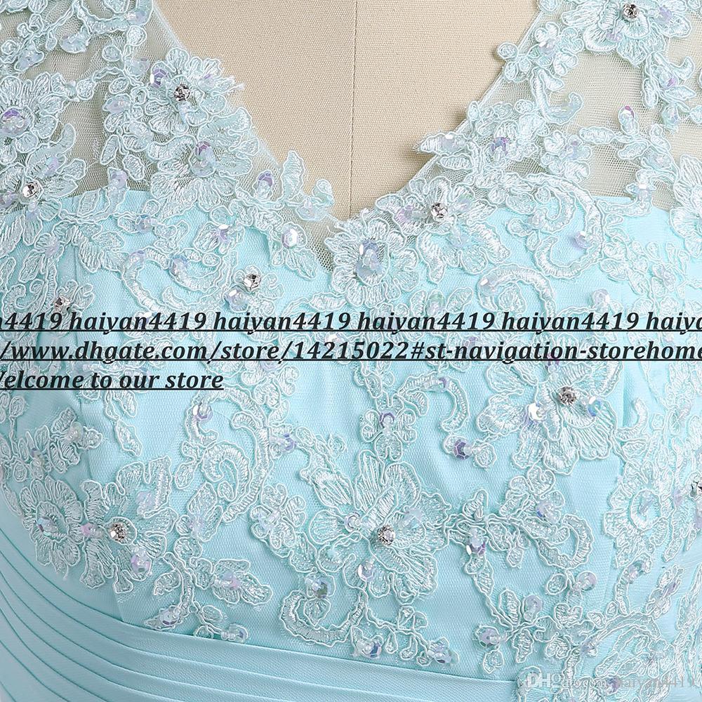 2020 Formale Mint Green Madre dei vestiti dalla sposa con il rivestimento chiffon Appliques pizzo increspato di lunghezza del ginocchio abiti di sera di un matrimonio abito