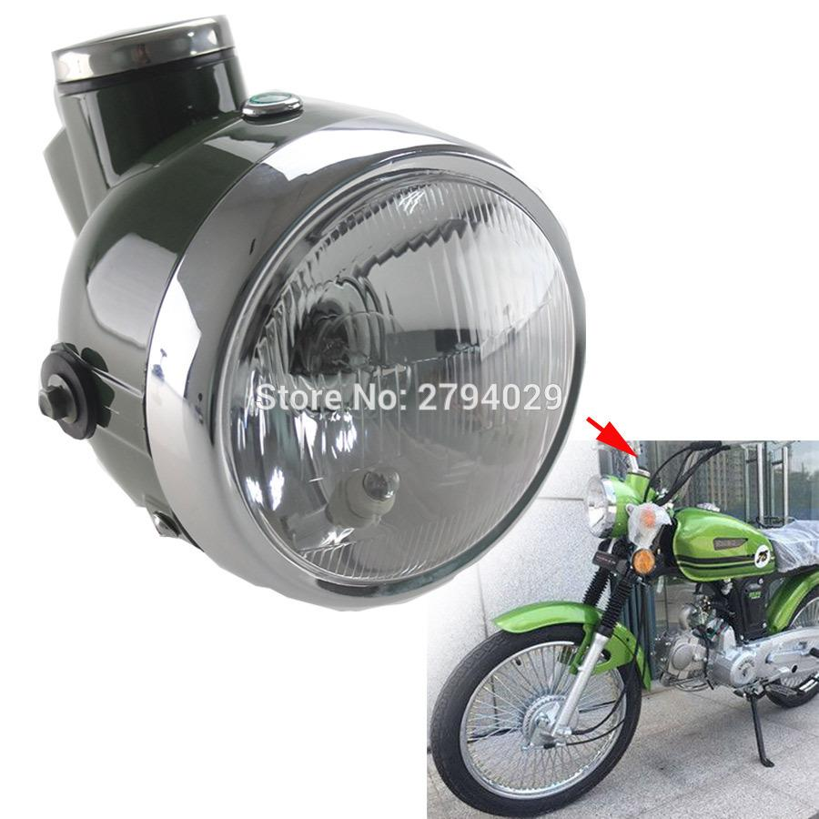 2017 new military green retro headlight with speedometer mph fits