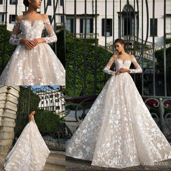 Discount Milla Nova 2019 Wedding Gowns Full Lace Open Back