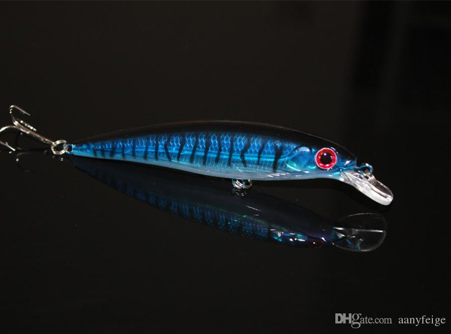 Señuelo de pesca flotante Minnow Láser Cebo artificial duro 3D Ojos 11CM 13G Pesca de peces Wobblers Crankbait Minnows