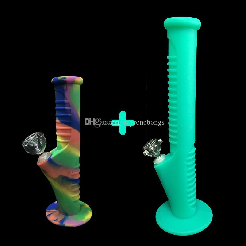 09Free shipping fuls new set Silicone Mini Water Pipes and Silicone Water Pipes glass bongs glass pipes water bongs