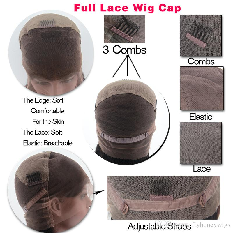 Brazilian Short Bob Wigs Human Hair Full Lace Wig For Black Women Side Part Glueless Lace Front Wigs With Baby Hair