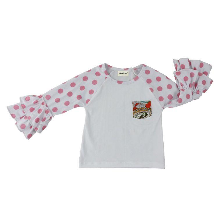 INS XMas baby girls дети обледенение рябить реглан топы рубашки девушки полосатый точка одежда О-образным вырезом девушки повседневная топы осень весна осень топ футболка