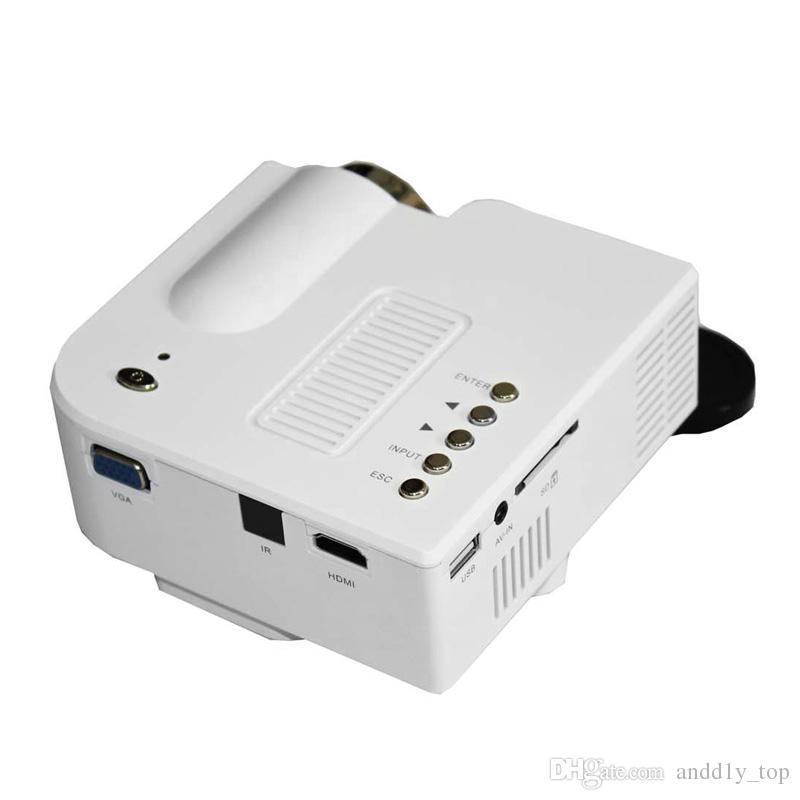 Videoproiettore portatile portatile a LED videoproiettori mini videoproiettori UC28 + Videoproiettore PC portatile Home Audio Video con pacchetto di vendita al dettaglio