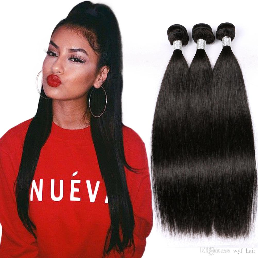 Unprocessed 8a Malaysian Straight Virgin Human Hair Weave 3 Bundles