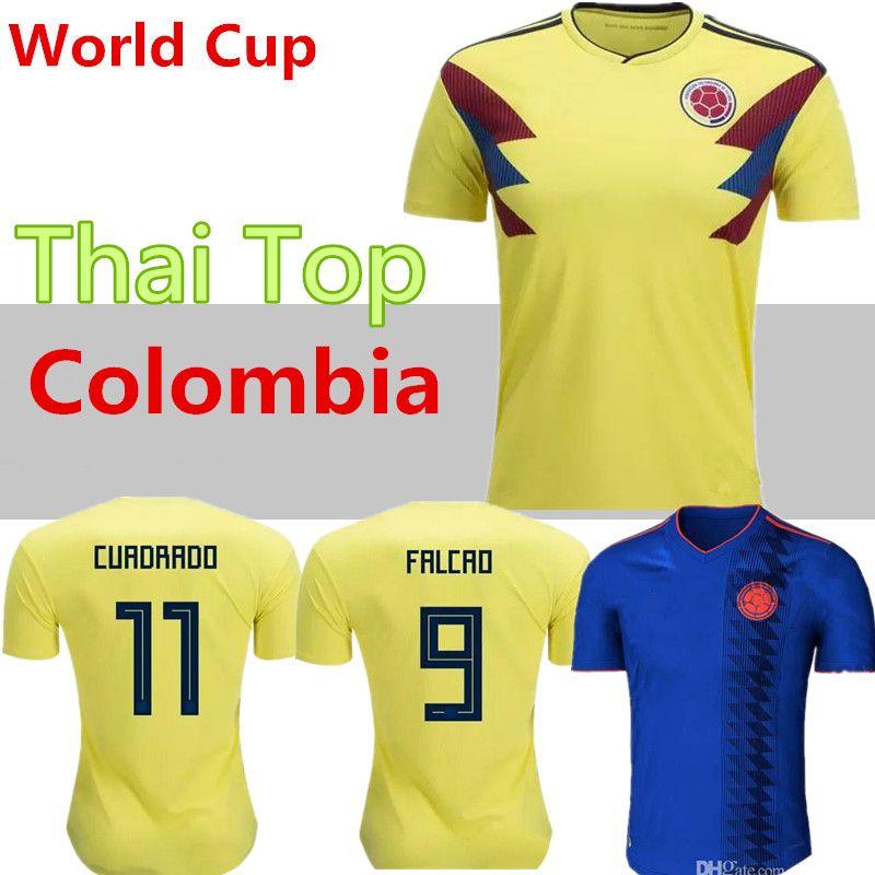 premium selection 8f789 496e5 Top thailand National JAMES 10 COLOMBIA soccer jerseys 2018 World Cup  Jersey FALCAO CUADRADO BACCA Football soccer shirt camisetas maillot