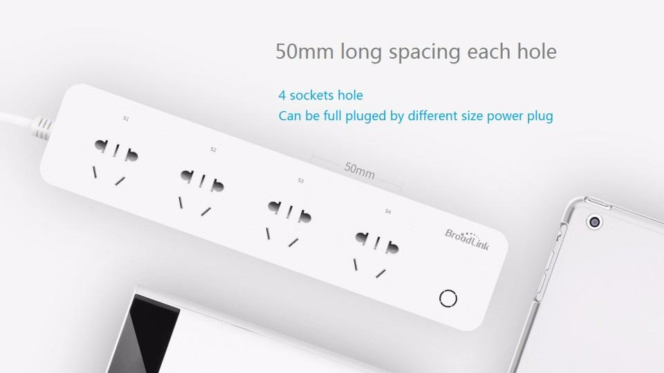 BroadLink MP1 Smart Power Strip Socket Socket WiFi controlable por separado WiFi Smart Socket de 4 tomacorrientes para automatización inteligente