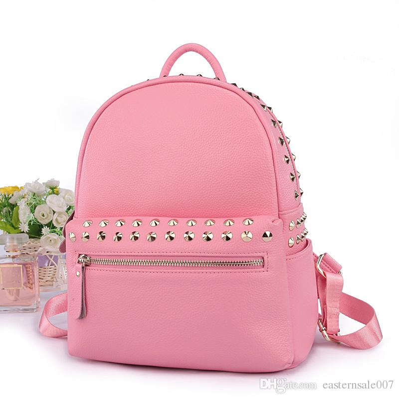 Women Backpack Bags Pink Color Fashion Girl Shoulder Bags 100