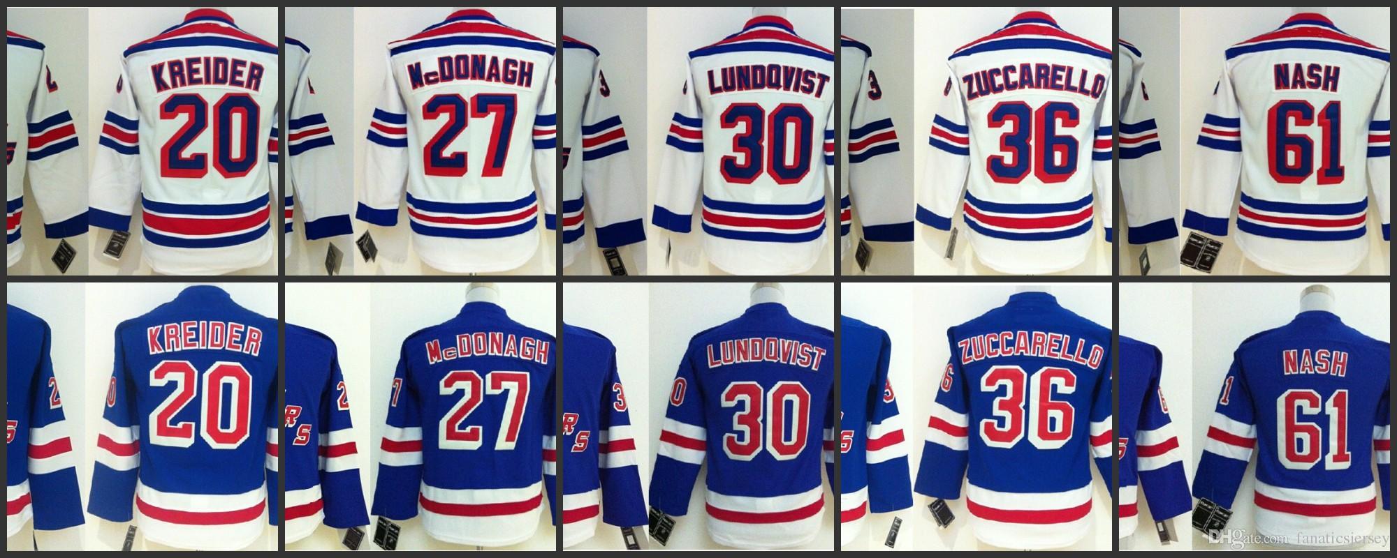 size 40 09da7 aae3f new york rangers 30 henrik lundqvist white kids jersey