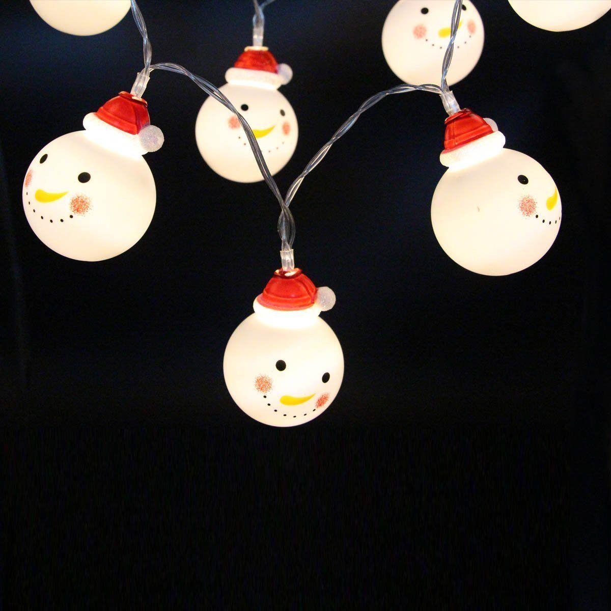 20 LEDs Schneemann LED Lichterketten 1m 10 LEDs batteriebetrieben 5m 30 LEDs Lichter warmweiß rgb Weihnachten