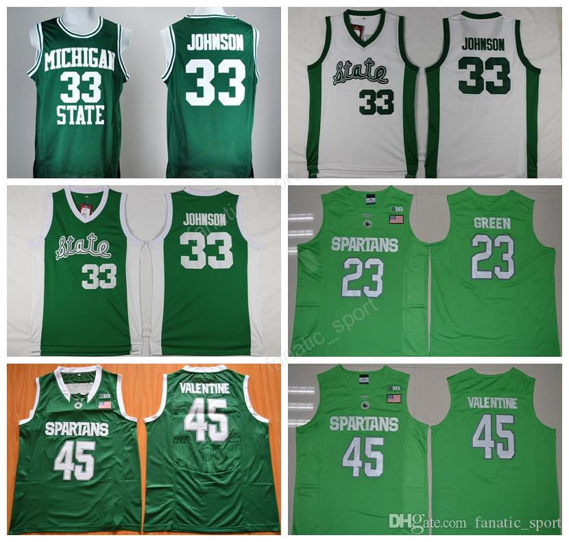 outlet store sale 19159 3836a michigan state spartans 33 magic johnson green jersey