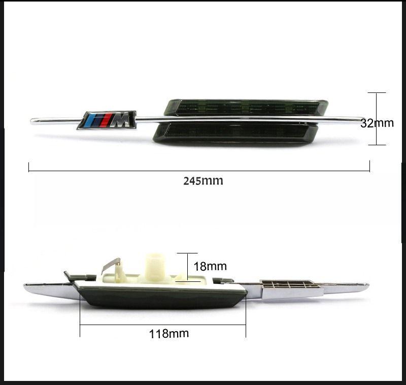 / 세트 LED 펜더 사이드 턴 신호 도어 램프 측면 마커 빛 12V SMD3528 BULB 키트 BMW E60 E61 E81 E82 E87 E88 E90 E91 E92 M 로고