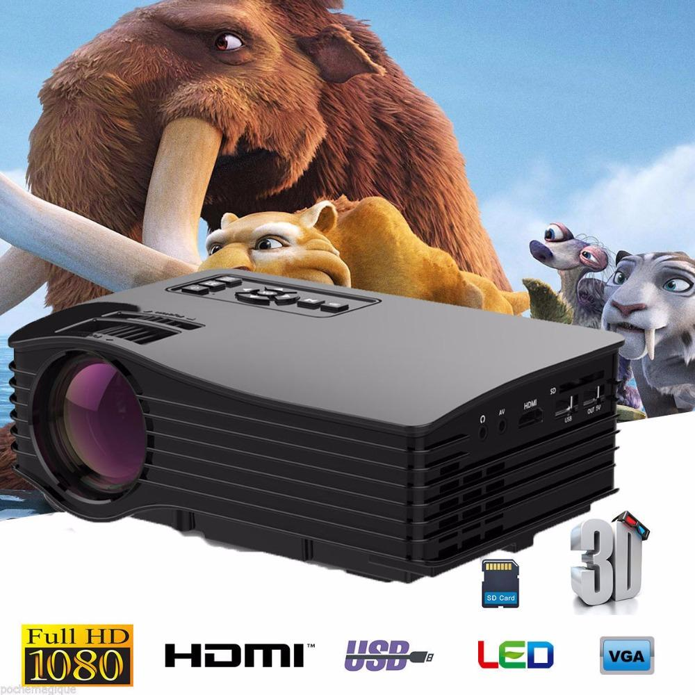 Wholesale- Portable 4K 3D Mini Laser LED Projector Home Theater Projectors  Support Full HD 1080P HDMI /MHL USB/AV/SD/VGA Day time usefull