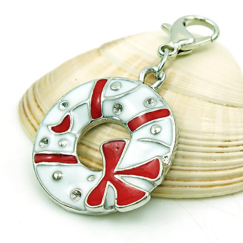 Fashion Floating Hummer Verschluss Charms Silber Farbe Emaille Weihnachten Kreis Charms DIY Für Schmuck Machen Zubehör