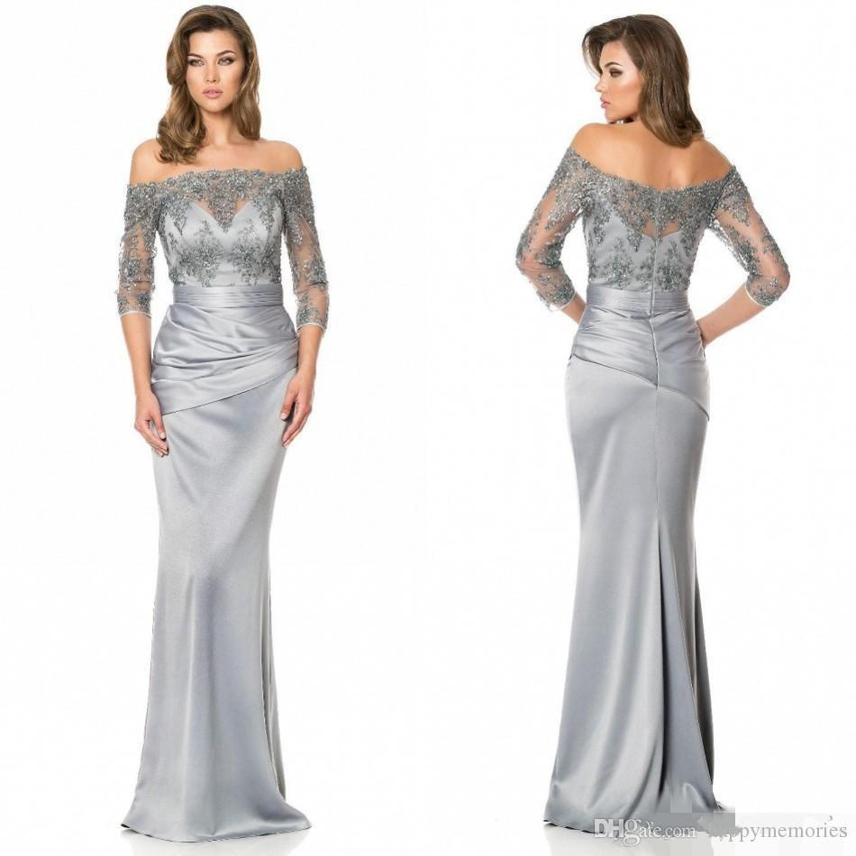 Plus Size Silver Dresses For Mother Of The Bride Kica Style Dress 2018
