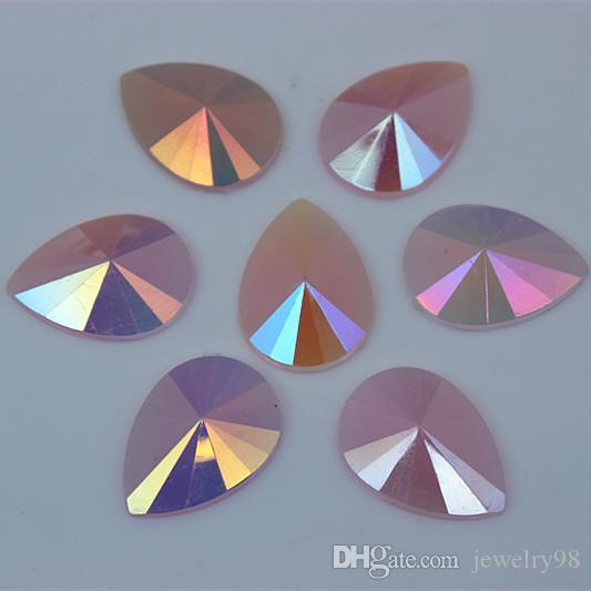 13*18mm AB Jelly Color Drop Acrylic Rhinestones Crystal Pear flat back Beads DIY Jewelry Garment Accessories ZZ553