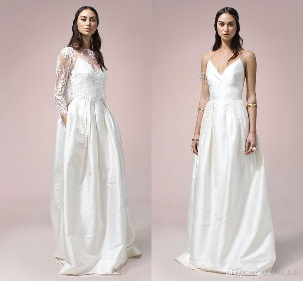 Discount Pocket Design Vintage 1920s\' Bohemian Wedding Dresses With ...
