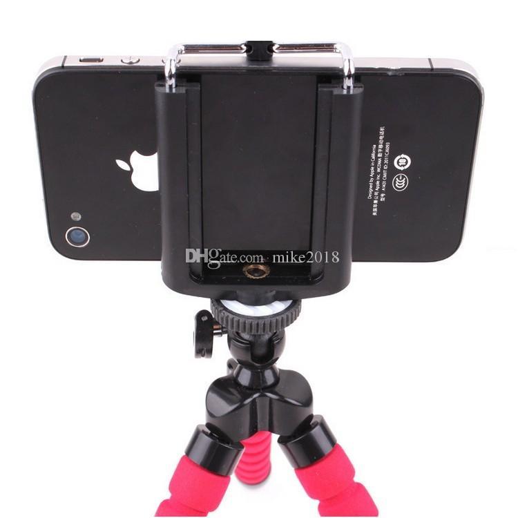 Sıcak Satış Araç Telefonu Tutucu Esnek Ahtapot Tripod Braketi Özçekim Standı Dağı Akıllı Cep Telefonu Için Monopod Şekillendirici Aksesuarları Standı