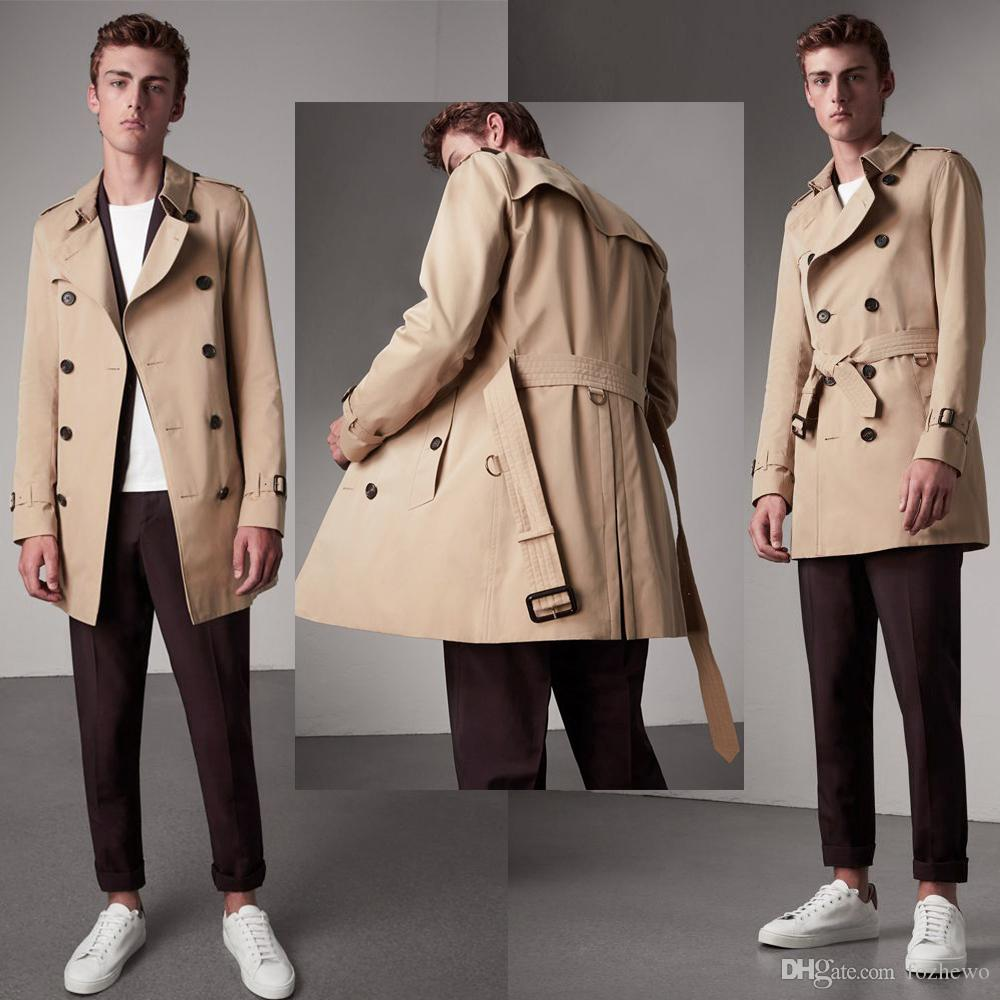 2019 Men Trench Coat Classic Double Breasted Mens Long Coat Mens Clothing  Long Jackets   Coats British Style Overcoat S 2XL Plus Size From Fozhewo,  ... b376922634