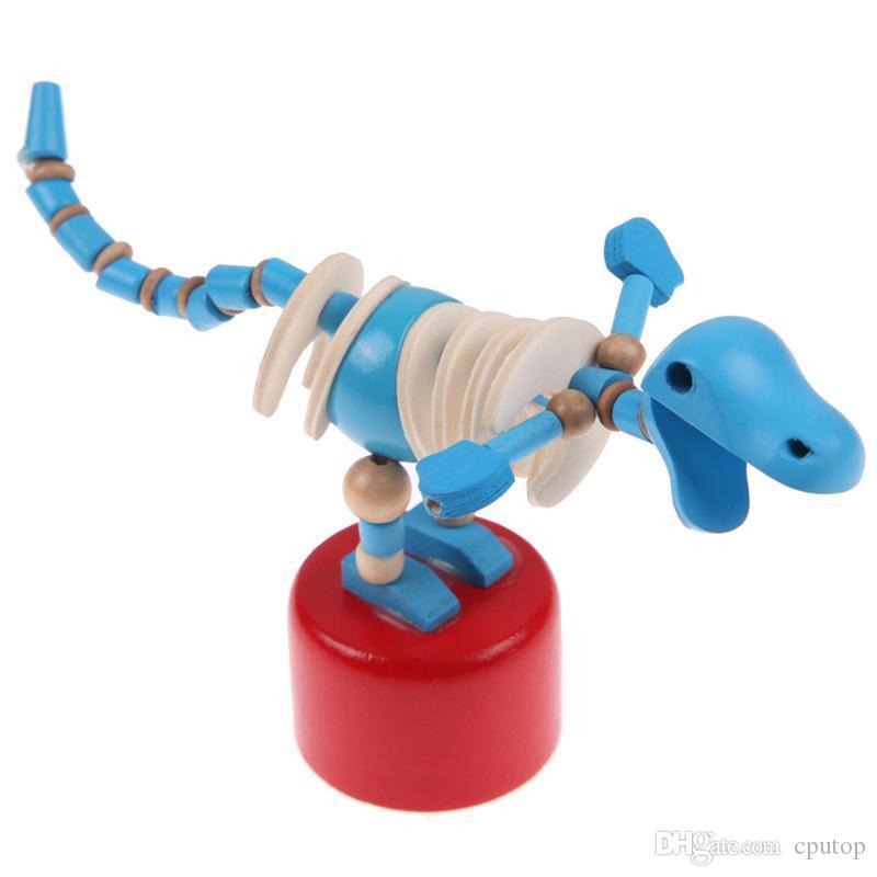 طفل خشبي التنموية الرقص الدائمة هزاز ديناصور برميل يدويا لعبة