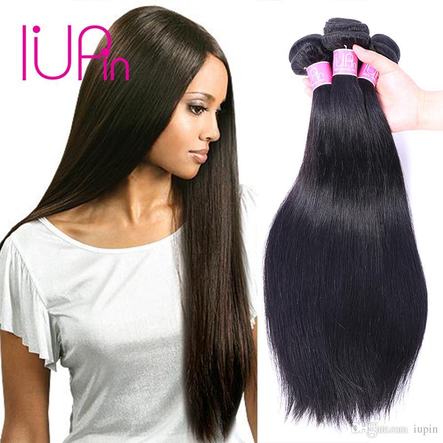 Iupin Company New Peruvian Virgin Hair Straight 3 Bundles Deals