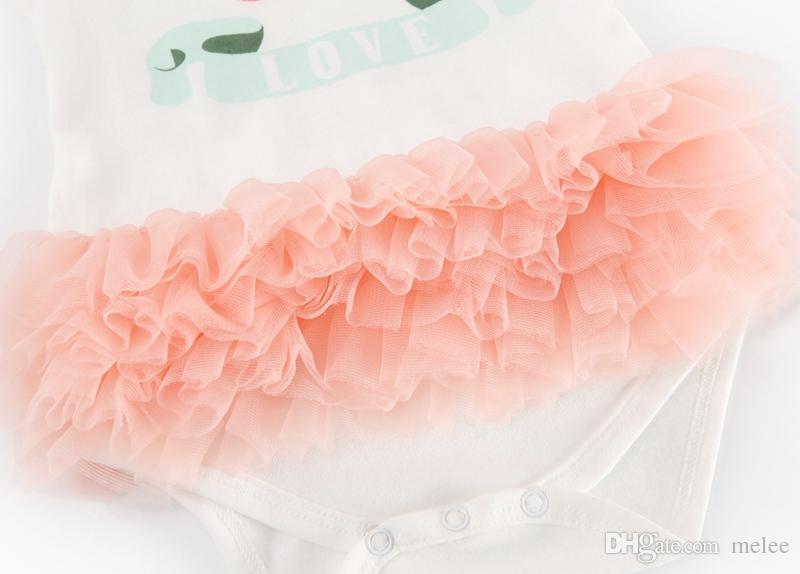 Meninas de algodão tutu romper vestidos menina macacão vestido de bolo do bebê meninas Vestido de Renda Layered vestido 0-2 anos