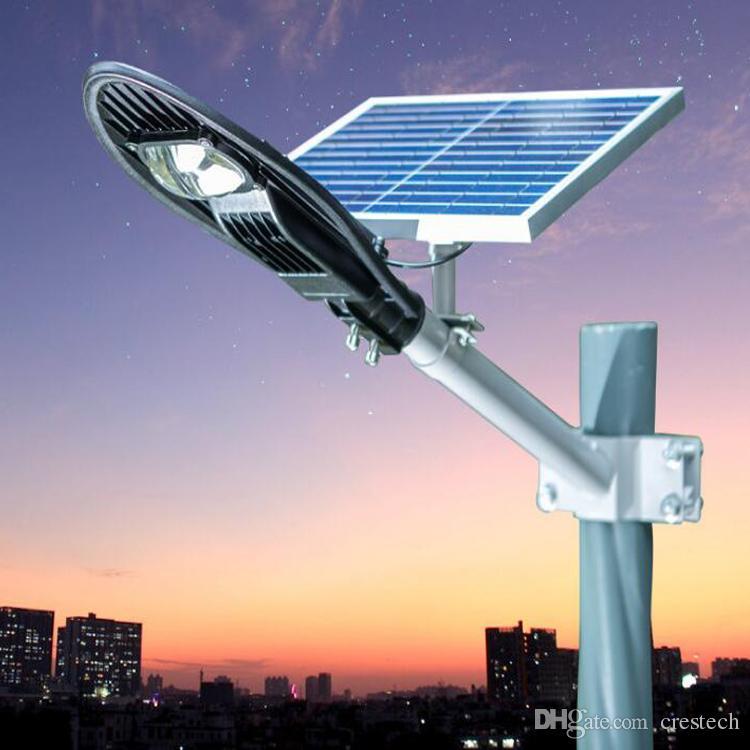 Funzionamento automatico notturno Lampioni stradali a LED Lampada da pannello solare impermeabile IP65 illuminazione esterna 10W 12W 20W anti illuminazione