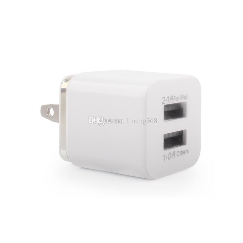 Fabrik US-Stecker-Metallring Doppel-USB-Spielraum-Aufladeeinheits-Wand-Aufladeeinheit für Iphone Ipad Samsung-Galaxie Huawei Tablette Smartphone schnelles Verschiffen