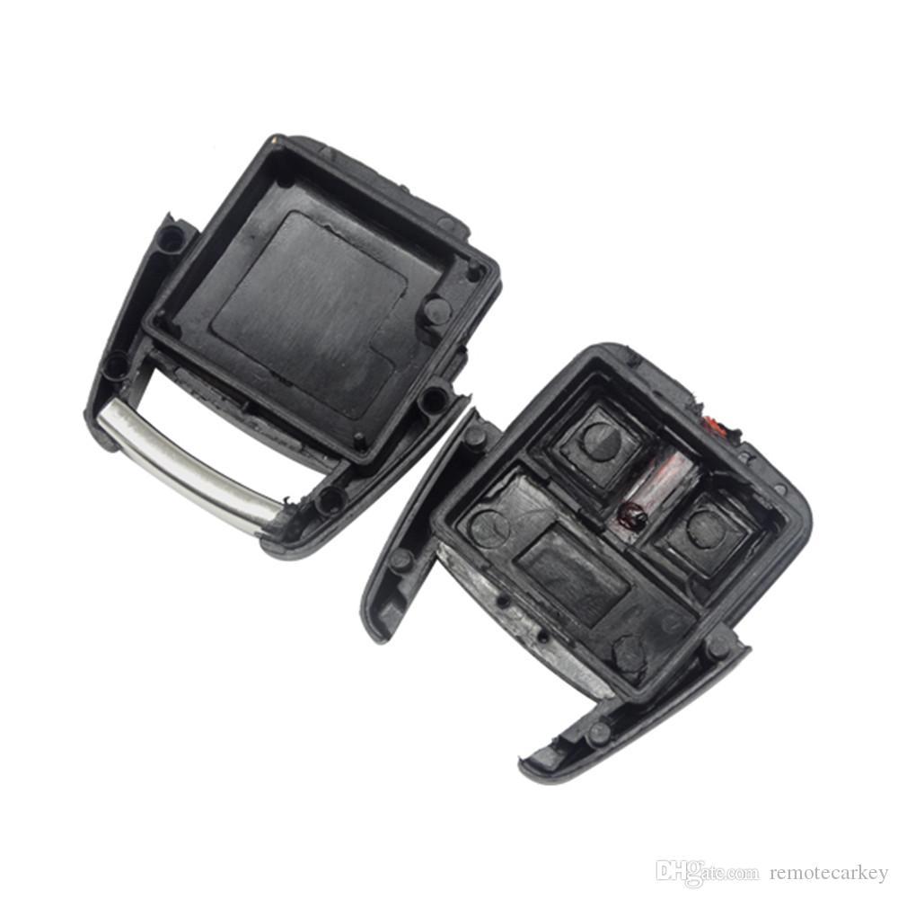 Venta caliente Opel Llave remota en blanco Parte 3 Botón Clave Estuche Reemplace la llave del auto Shell sin cuchilla