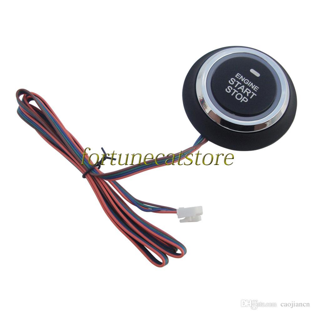 Universal RFID Car PKE Alarm System Passive Keyless Entry with Shock Sensor Push Start Remote Start Smart Password Keypad Rolling Code