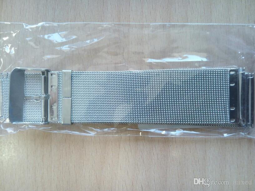 14/16/18/20/22 / 24mm Milanese Armbänder Edelstahl Armbanduhr Band Frauen Männer Uhrenarmband 2,5mm Zubehör