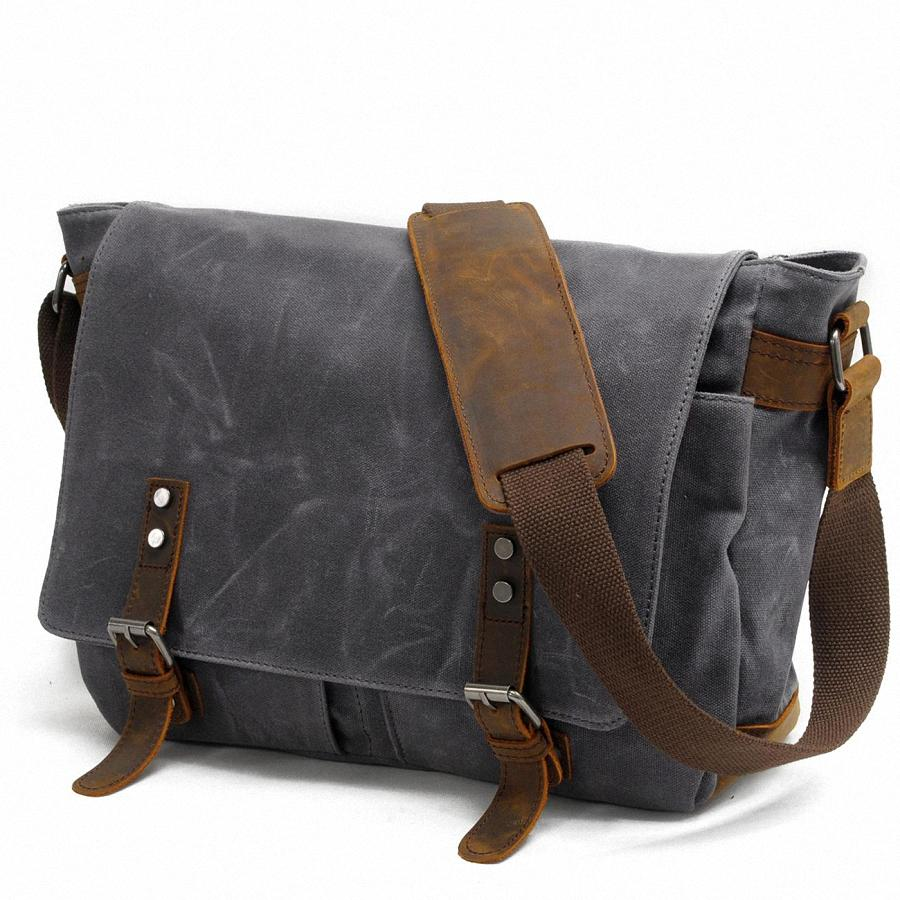 Wholesale 2016 New Men Messenger Bags Waterproof Canvas Men Vintage Handbags  Travel Shoulder Bags 15 Inch Laptop Briefcase LI 1488 Black Handbags Luxury  ... 0f6dfb813eb0d