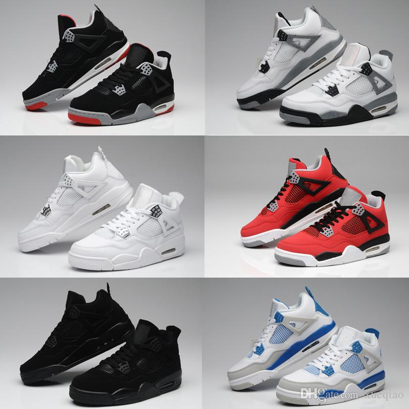 3e838ad75404d7 High Quality Basketball Shoes 4 Men Women 4s White Cement Bull Red ...