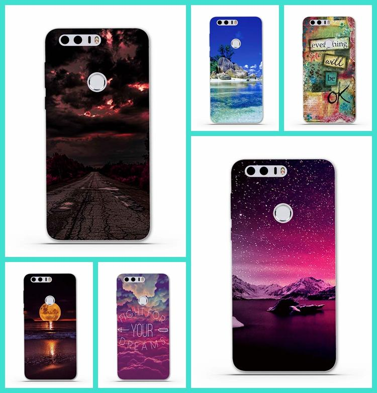 best service 39781 ac620 Wholesale- Phone Cases for Huawei Honor 8 Case Cover Luxury TPU Protective  Soft Silicone Back Cover for Huawei Honor 8 Phone Bag