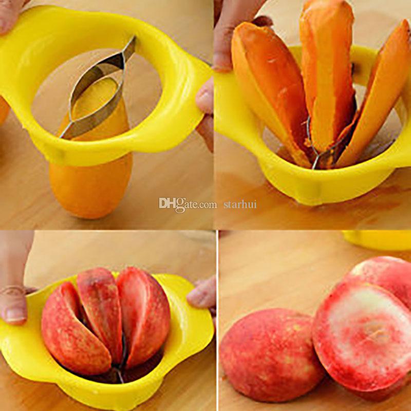 Praktische Mango Splitter Obst Gemüse Werkzeug Pfirsich Corers Peeler Shredder Slicer Cutter Küche Dining Bar Gadget Tools WX-C42