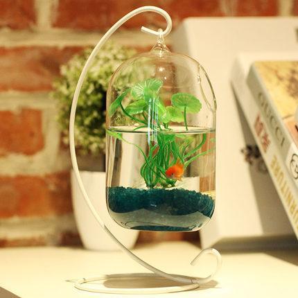 Big Size Glass Vase Home Decor Aquarium Suitable Fish Tank Wax Gourd