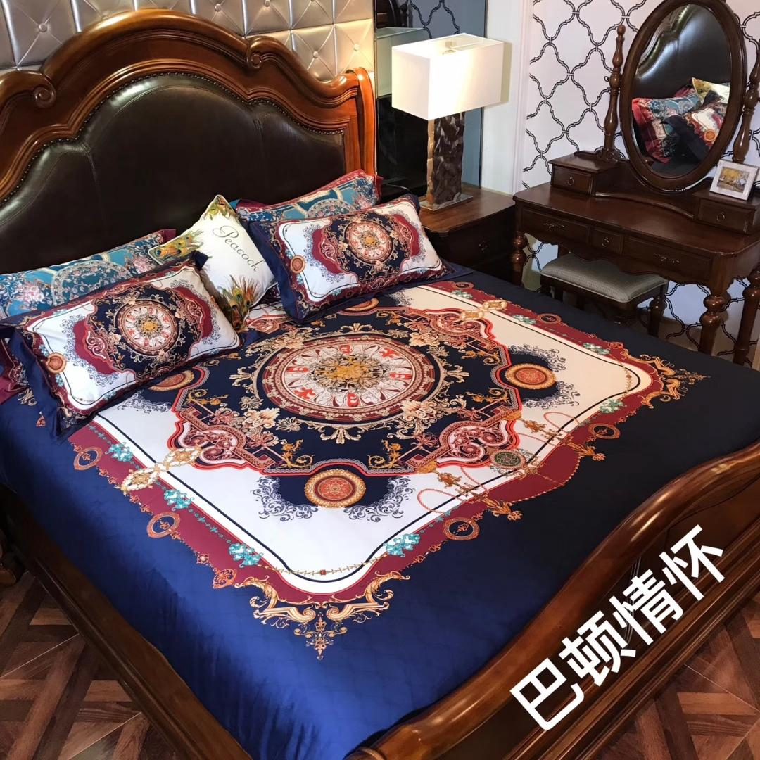 High thread count 80yarn solid color bedding set 100% cotton fabric queen and king size available digit printing pvc bag packing weijiao02