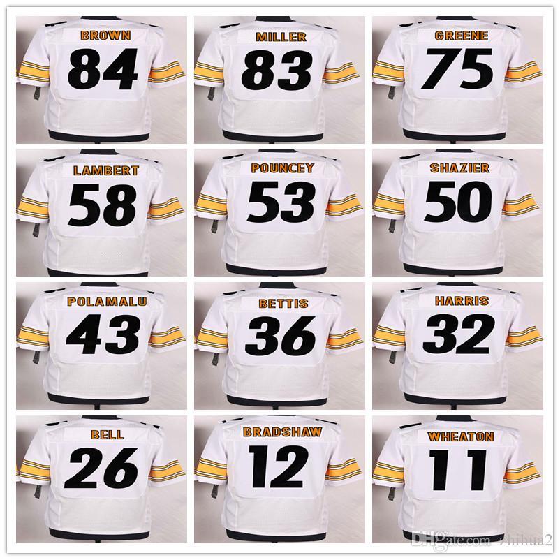 ... 2017 New Draft Pick Pittsburgh 90 T.J. Watt Jersey White Black Yellow  Mens 11 Joshua Dobbs ... 32f31d253