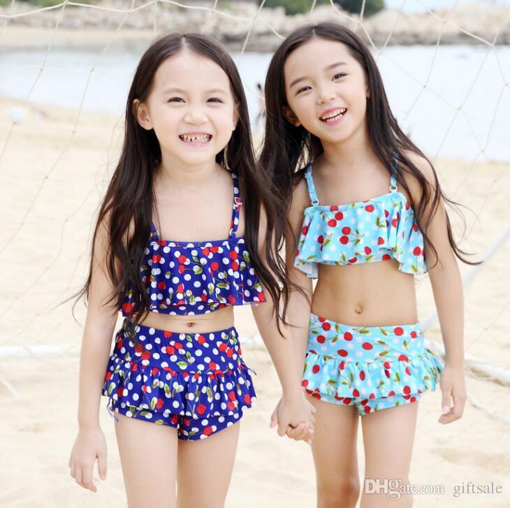 bd22388f68a01 2019 Children S Swimsuit Girls Cherry Bebek Bikini Baby Girl Swimwear Girls  Swim Swimsuits For Children Girls Swimming From Giftsale