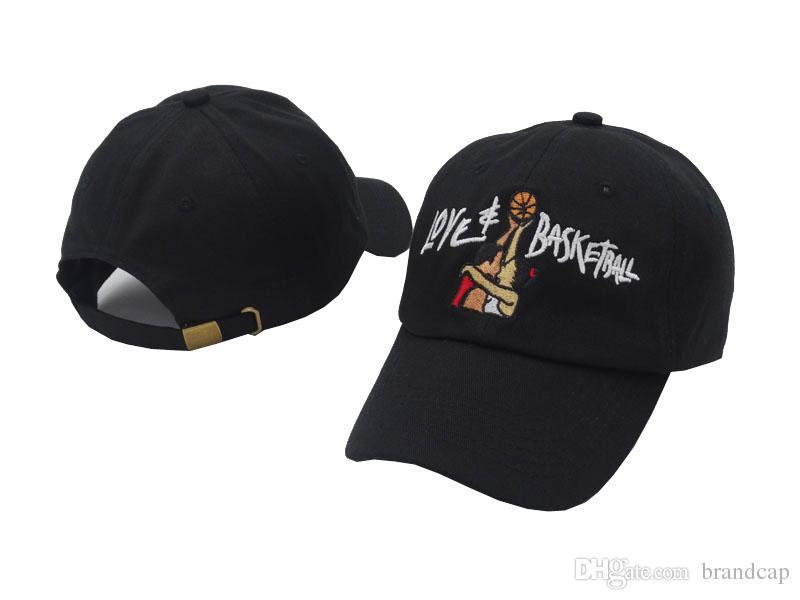 블랙 데님 러브 농구 영화 레트로 야구 모자 힙합 Snapback 브랜드 남성 여성용 모자 빈티지 아빠 모자 스포츠 모자