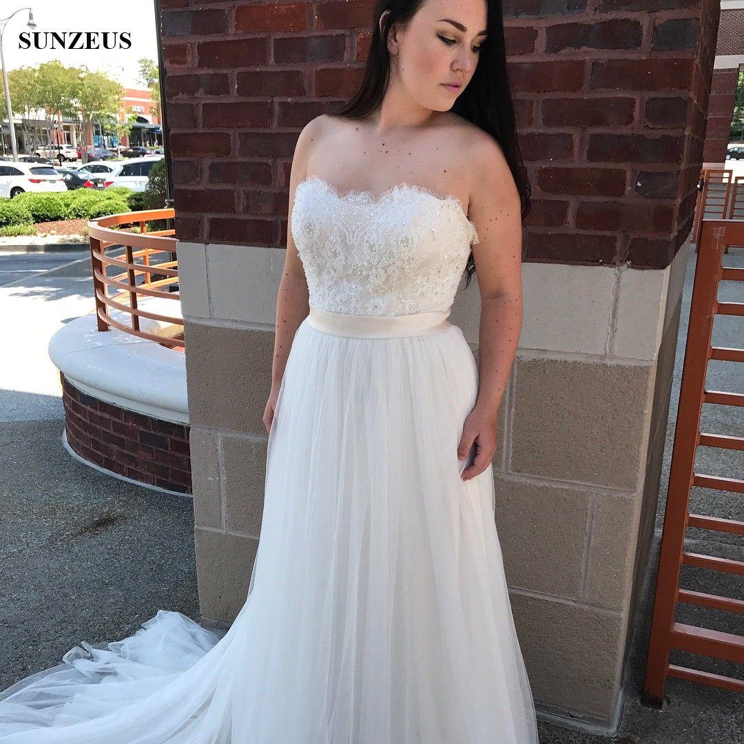 Свадебное платье из бисера и кружева с лифами и длинными рукавами без бретелек и тюля