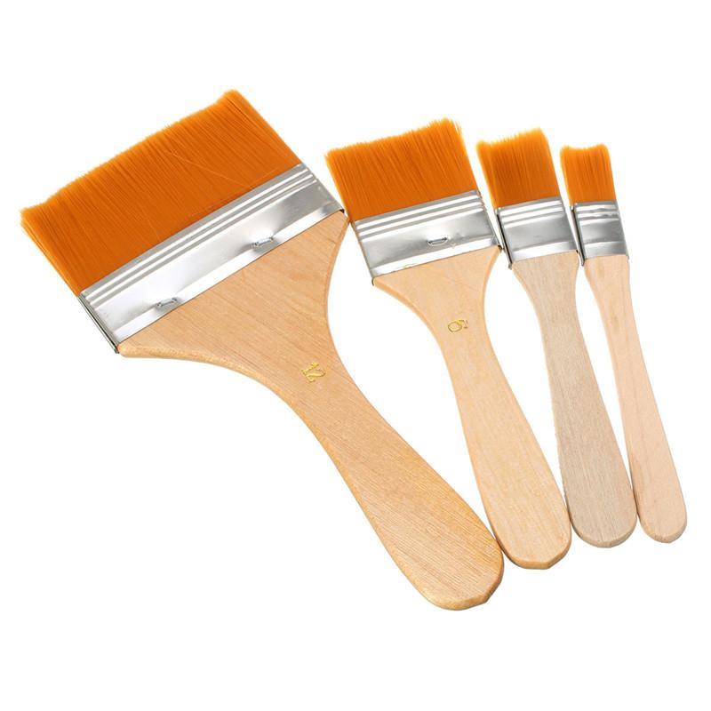 12 pçs / set Pincel de Nylon Escova De Óleo De Cabelo Grande Médio Pequeno Superfície Tamanho 1-12 Disponível Pincel de Tinta Acrílica para Art Supply