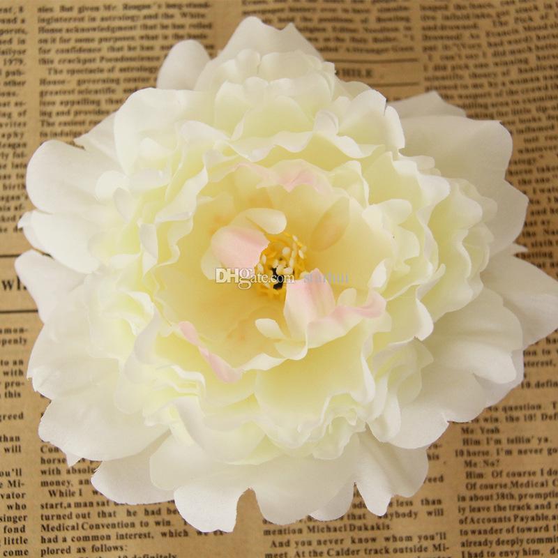 Новые искусственные цветы шелк Пион цветок головы партия свадебные украшения поставки моделирование поддельные цветок глава украшения дома 12 см WX-C09
