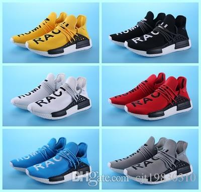 a7856aa17be10 ... 2018 2017 Adidas Pharrell Williams Nmd Human Race In Yellow Red Black  Blue Grey Green White ...