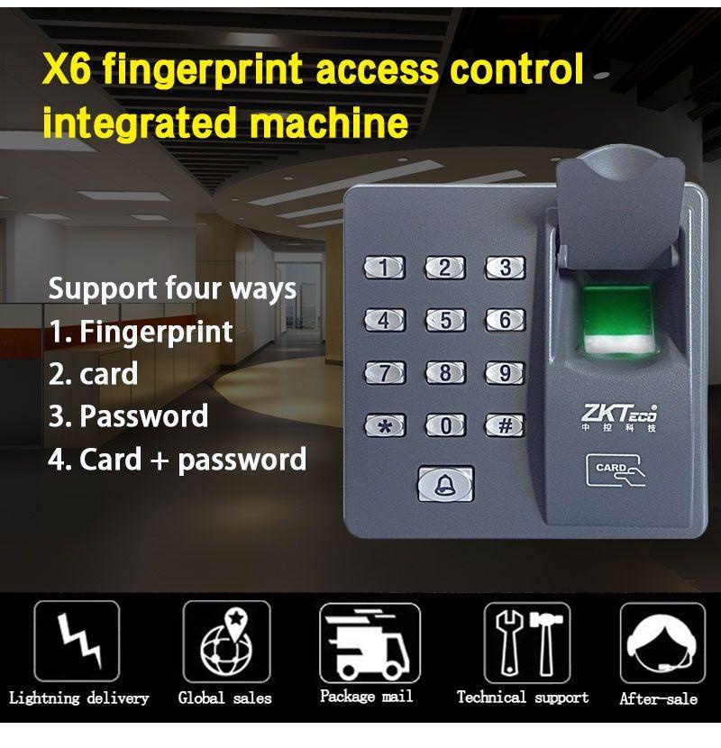 Grosshandel Neue Digitale Elektrische Rfid Leser Fingerscanner Zkt X6