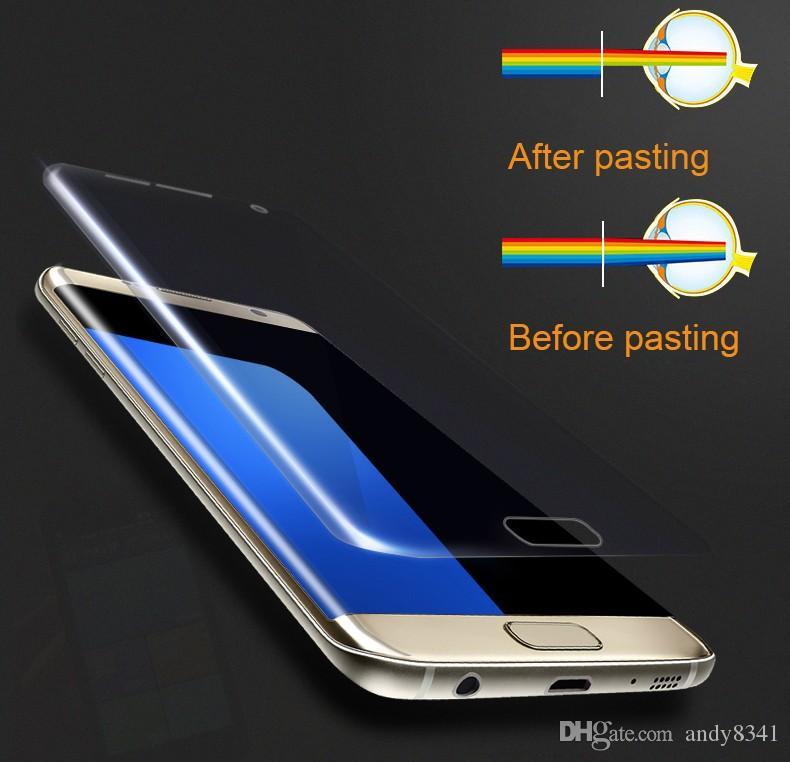 For HD Clear 3D Curved Soft PTU Film Samsung Galaxy S6 Edge Plus S7 S8 Anti-explosion Full Cover Screen Protector Anti-scratch/Anti-oil/Ant