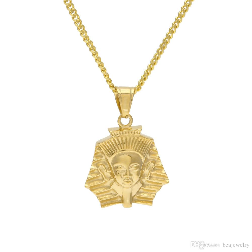 Wholesale fashion gold plated ancient egypt king tut pharaoh pendant wholesale fashion gold plated ancient egypt king tut pharaoh pendant necklace cuban chain stainless steel mens hip hop jewelry best friend necklaces rose aloadofball Gallery