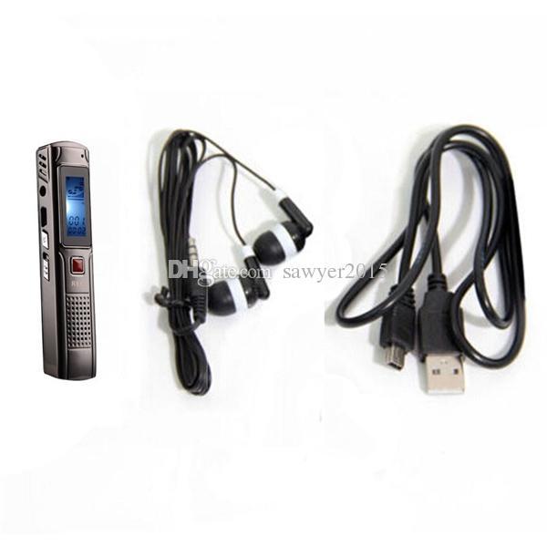 Enregistrement long professionnel 4 Go, 8 Go, acier, enregistrement stéréo, mini enregistreur audio numérique, enregistreur vocal, lecteur MP3, FM avec boîte de vente au détail