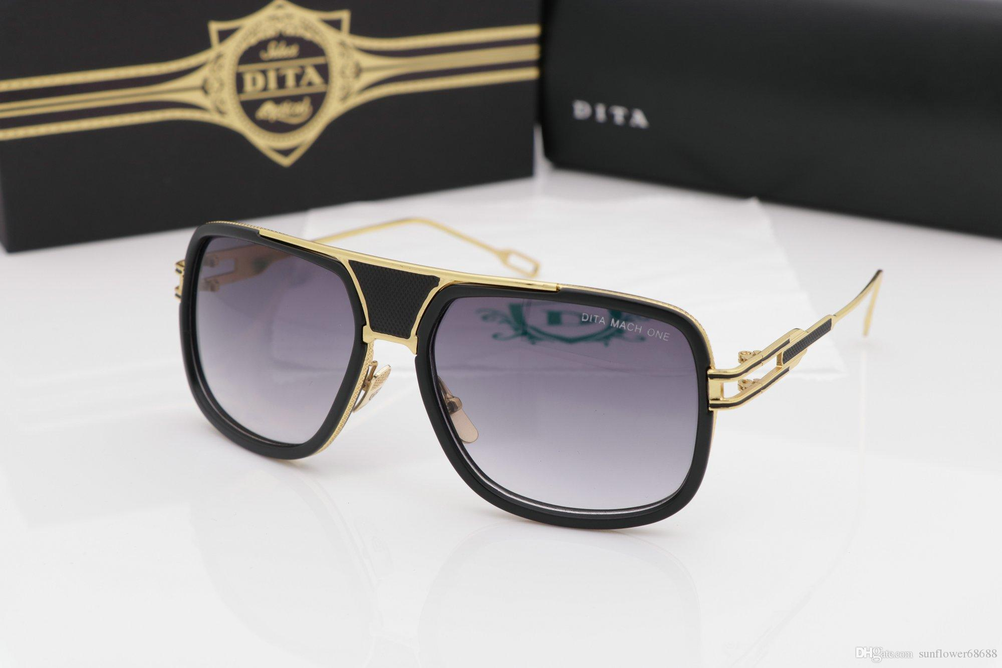 9550a43d1061 2017 Brand Grandmaster Five 5 Sunglasses DRX 2077 Black Gold Dark ...